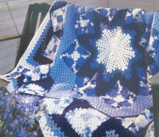 Round afghan blanket patterns, crocheted or knitted - Tame
