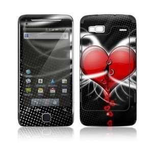 Devil Heart Decorative Skin Cover Decal Sticker for HTC Google