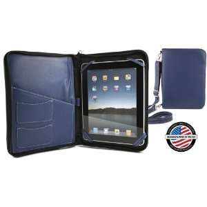 NewerTech iFolio   Premium Blue Leather Case Holder/Folio