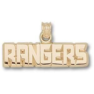 New York Rangers NHL Rangers 1/4 Pendant (Gold Plated
