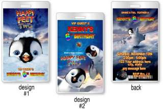 Happy Feet 2 Birthday Party Invitations and Favors