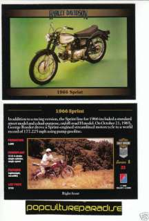 1966 66 HARLEY DAVIDSON SPRINT H MODEL MOTORCYCLE CARD
