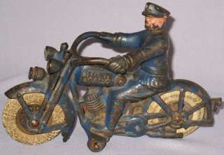 HUBLEY HARLEY DAVIDSON MOTORCYCLE 1 CYLINDER CAST IRON
