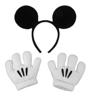 DISNEY Mickey Mouse Ears GLOVES headband costume Hat