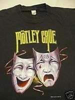 Vintage Motley Crue Concert T Shirt 1985 Tour Theatre Pain Black Large