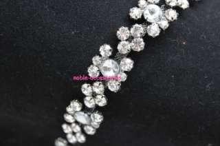 fashion bridal costume applique diamante rhinestone crystal silver