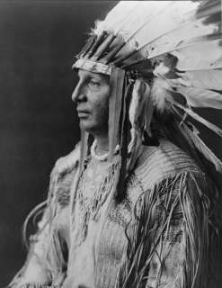 AMERICAN INDIAN CHIEF WHITE SHIELD ARIKARA 1905 PHOTO WESTERN HERITAGE