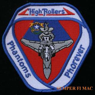 PHANTOM 192 TRS HIGH ROLLERS PATCH US AIR FORCE ANG