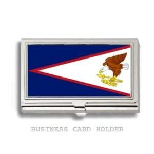 American Samoa Flag Business Card Holder Case Everything