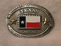 Belt Buckle Texas Flag and Confederate History