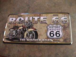 HISTORIC ROUTE 66 LICENSE PLATE NEW TAG MOTHER ROAD 66