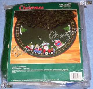 Bucilla SANTA HOLIDAY EXPRESS Train Felt Christmas Tree Skirt Kit   36