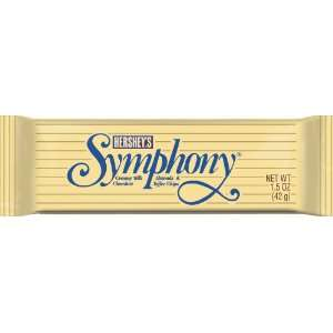 Hersheys Symphony Bar, Milk Chocolate with Almonds & Toffee Chips, 36
