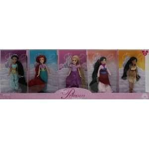 Disney Princess Doll Set * Jasmine * Ariel * Rapunzel * Mulan