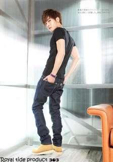 Korean Fashion Mens Comfortable Cowboy Cut Slim Fit Thin Sytle Denim