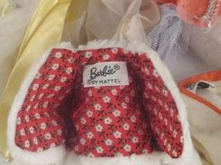1950s   60s Mattel Barbie Midge Dolls, Clothes & Case Lot