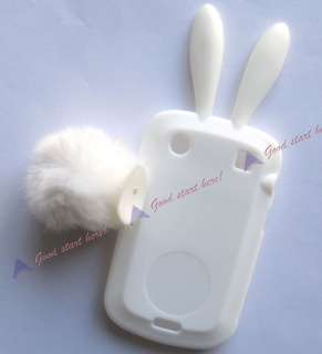 Rabbit Silicone TPU Skin Protector Case Cover For Blackberry Bold 9900
