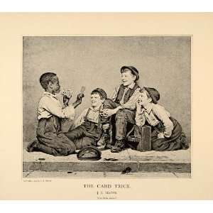 1896 John George Brown Card Trick Homeless Young Boys
