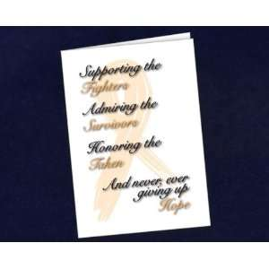 Honoring Card   Orange Ribbon (1 Box): Arts, Crafts