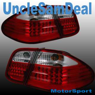 MERCEDES BENZ CLK CLEAR RED LED L.E.D.TAIL LIGHT 4PIECE