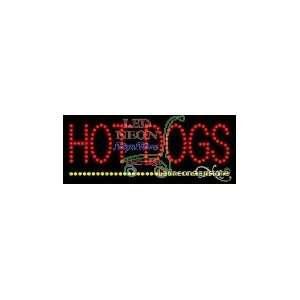 Hot Dogs LED Business Sign 8 Tall x 24 Wide x 1 Deep