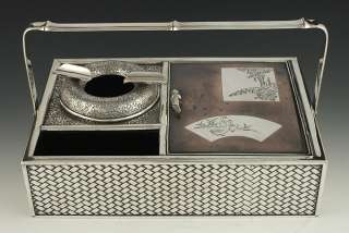 FAB QUALITY ANTIQUE JAPANESE MEIJI SILVER CIGAR BOX