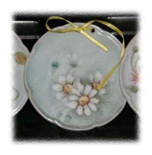 Vintage Hand Painted Porcelain Hanging Coaster Plates
