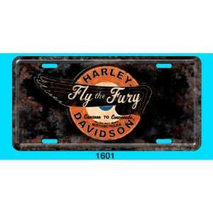 Graphics Harley Davidson Fly the Fury Distressed Stamped Metal Tag
