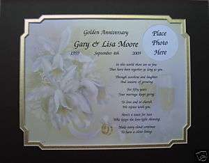 50th WEDDING ANNIVERSARY GIFT IDEA PERSONALIZED POEM