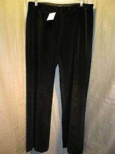 EUC Womens Banana Republic Black Velour Dress Pants 8