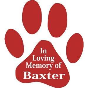 In Loving MemoryPawprint Pet Memorial Window Decal