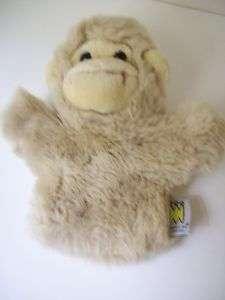 Manhattan Toy Co. 9 Beige Monkey Hand Puppet N