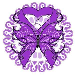 Lupus Butterfly Circle of Ribbons Pins: Office Products