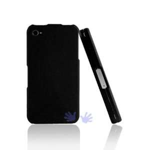 iGg iPhone 4 Rubberized Shield Hard Case   Black Cell