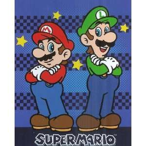 Super Mario Luigi Nintendo Micro Raschel Fleece Throw