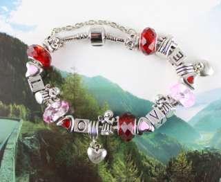 pcs European Style Love Bead charm Bracelets