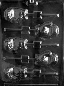 Sports BOXING GLOVE LOLLY Sports Chocolate Candy Mold 2 1/2 x 1 3/4