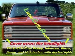 81~87 Chevy GMC Pickup Phantom Billet Grille 86 Grill