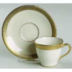 Lenox China Lowell (Gold Backstamp) Demitasse Cup & Saucer, Fine China