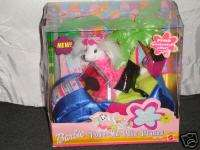 BARBIE POSE ME PETS PLACES CONVERTIBLE PET SET NIB