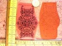 ORNATE FAUX kaleidoscope BUTTERFLY WING UN rubber stamp