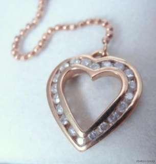 10K Yellow Gold Diamond Heart Lariat Necklace
