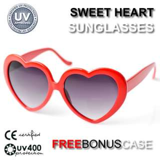 Sweet Heart Shape Love Valentine Sunglasses 8182 Red