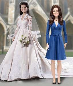 Kate Middleton Royal Vinyl Portrait Doll Set Of 2