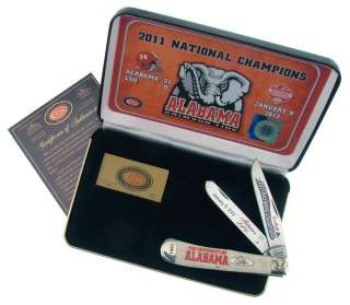 Case XX Alabama Crimson Tide 2011 BCS National Champions Knife White W