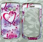white kiss love Samsung R375C Straight Talk Phone Cover case