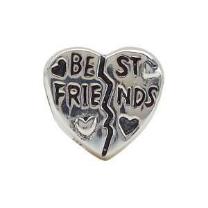 Kera Sterling Silver Best Friend Heart Bead Kera Beads Jewelry