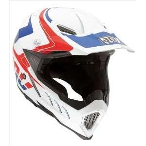 AGV AX 8 EVO Klassik White/Red/Blue Off Road Motorcycle Helmet Large