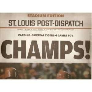2006 Rare St. Louis Cardinals World Series Champions Newspaper