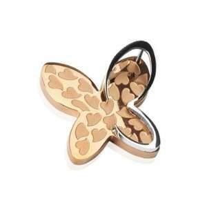 Rose Gold 3D Heart Butterfly Pendant West Coast Jewelry Jewelry